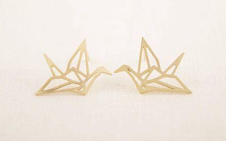 Náušnice v podobě origami - jeřáb