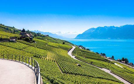 Švýcarsko, Ženeva, slavné vinice v Lavaux (UNESCO): 3denní zájezd z Prahy pro 1 os., 5-7/17