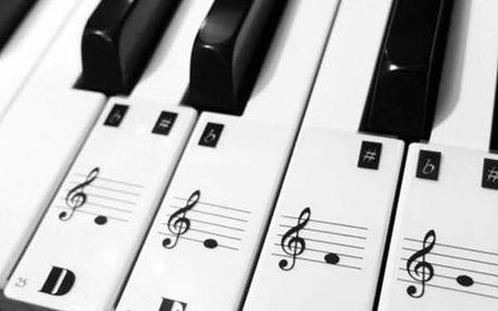 Nalepovací štítky s notami pro označení kláves