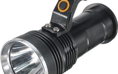 LED svítilna v černé barvě, 3000 lumenů