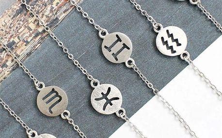 Jemný náramek se znamením horoskopu