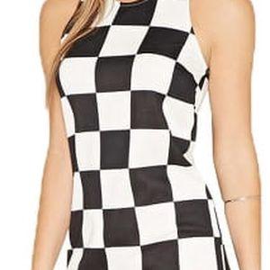 Forever 21 Dámské šaty Mod Checkered Shift Dress M