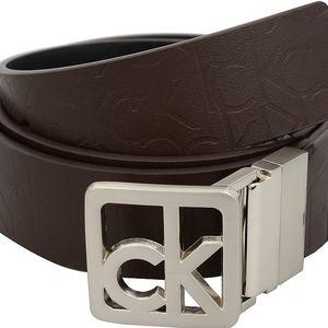 Calvin Klein Dámský oboustranný opasek Reversible Belt Black/Brown L
