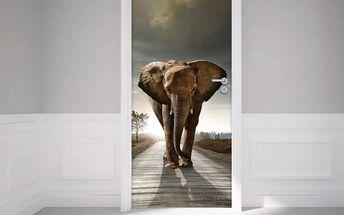 Adhezivní samolepka na dveře Ambiance Elephant