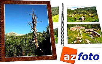 Barevná fotokniha A4 s kroužkovou vazbou až o 80 stranách z kvalitního lesklého křídového papíru.