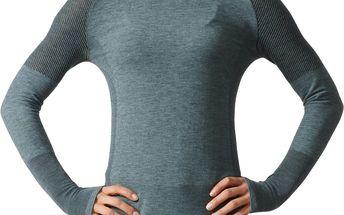 adidas Primeknit Wool Long Sleeve Hooded Tee Women XL