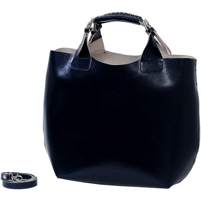 Tmavě modrá kabelka z pravé kůže Andrea Cardone Edoardo - doprava zdarma!