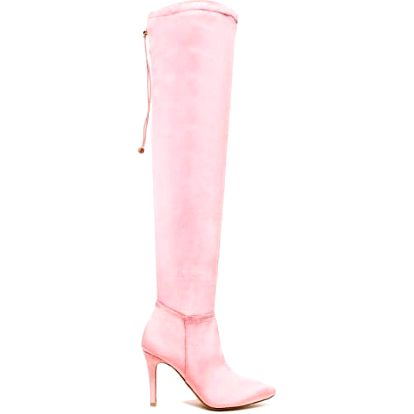 Dámské vysoké růžové kozačky Amanda 8170A
