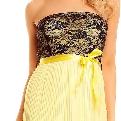 Dámské plesové šaty Gialo žluté