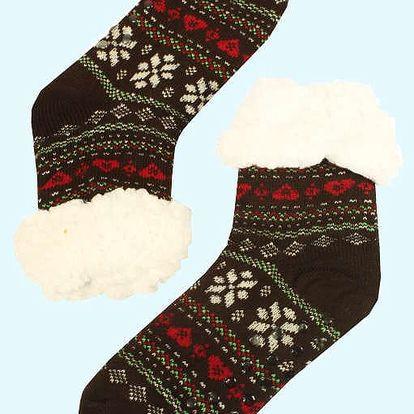 Bambusové maxi hřejivé domácí ponožky