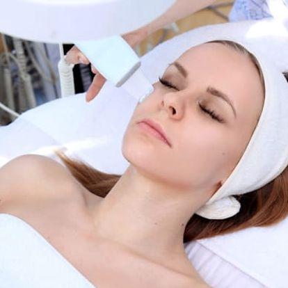 60min. čištění pleti ultrazvukovou špachtlí nebo kompletní kosmetický balíček u metra B Křižíkova