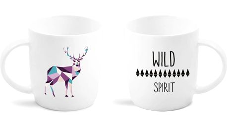 Porcelánový hrnek Vialli Design Wild Deer, 370 ml