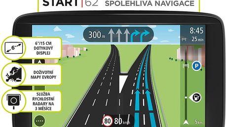 TOMTOM START 62 Europe (45 zemí) LIFETIME mapy - 1AA6.002.01