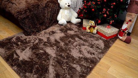 Kusový koberec COMFORT hnědý 140x200