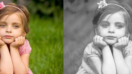 Výroba frézovaného obrazu z vlastní fotky: vyřezání do dřevotřísky v bílé či černé barvě