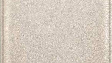 Pouzdro na mobil flipové Samsung pro Galaxy J7 2016 (EF-WJ710P) (EF-WJ710PFEGWW) zlaté