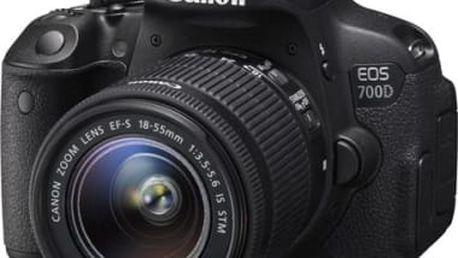 Digitální fotoaparát Canon 700D + 18-55 IS STM (8596B032) černý