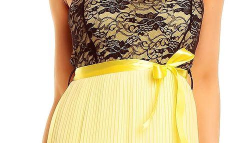 Dámské plesové šaty Gialo žluté AKCE