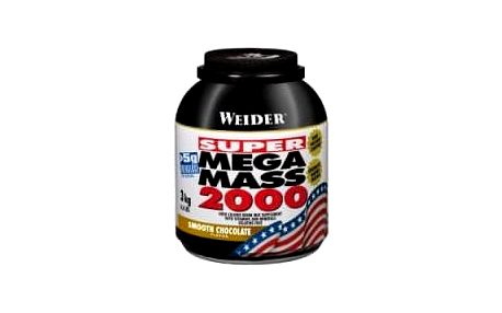 Super Mega Mass 2000, Gainer, Weider, 3000 g - Jahoda
