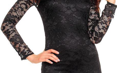 Dámské krajkové šaty Abstract černé