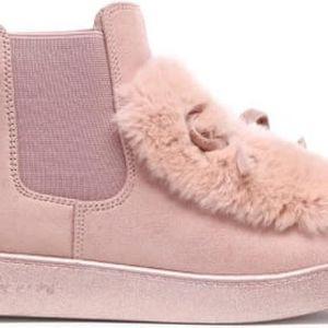 Dámské růžové kotníkové boty Chantelle 7109