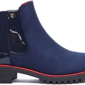 Dámské modré kotníčkové boty Lana 1108