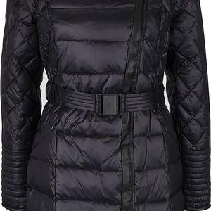 Černý prošívaný péřový kabát s páskem VILA Lenora