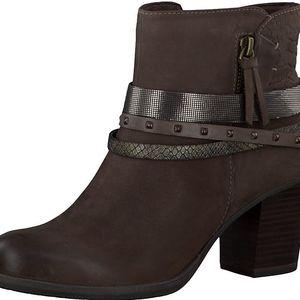 Tamaris Elegantní dámské kotníkové boty 1-1-25338-27 391 Cigar Comb 40