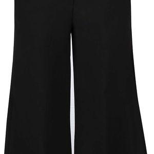 Černé culottes s kapsami a rozparkem Closet