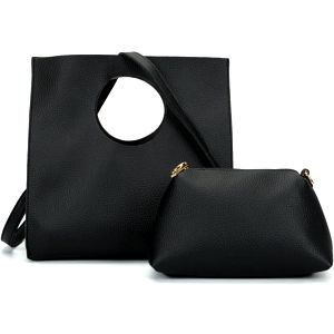 SET: Dámská černá kabelka Dyna 5119