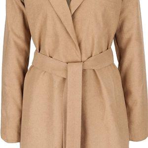 Světle hnědý kabát s páskem VILA Seoul