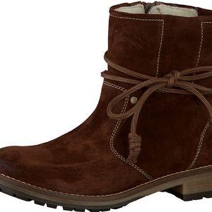Tamaris Elegantní dámské kotníkové boty 1-1-26063-37 334 Mahagony 39