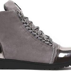 Dámské tmavě šedé kotníkové boty Danna 1044a