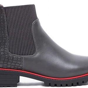 Dámské šedé kotníkové boty Jeffersony 1107
