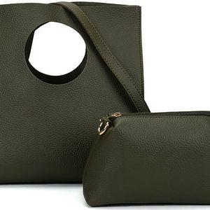 SET: Dámská zelená kabelka Dyna 5119
