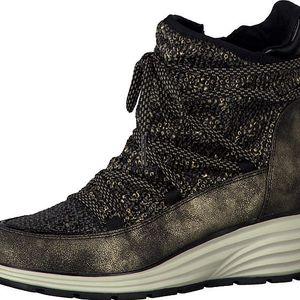 Tamaris Elegantní dámská zimní obuv 1-1-25420-27 928 Gold ant. comb 36