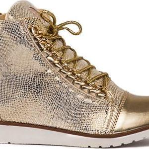 Dámské zlaté kotníkové boty Danna 1044a