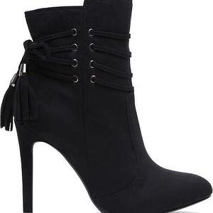 Dámské černé kotníčkové boty Destiny 4074