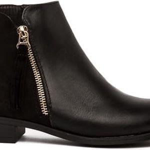 Dámské černé kotníkové boty Patrica 010