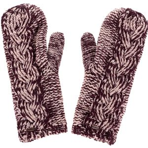 Vínové dámské žíhané pletené palčáky O'Neill Fox