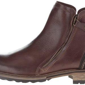 Tmavě hnědé pánské kožené kotníkové boty Bullboxer