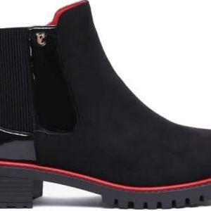 Dámské černé semišové kotníčkové boty Lana 1108