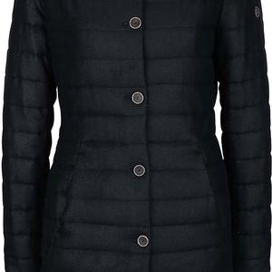 Černý dámský prošívaný kabát Bugatti