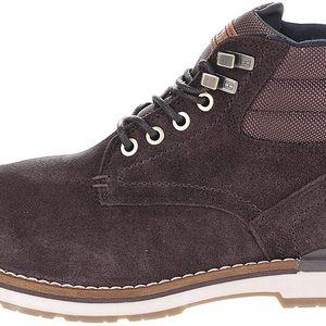 Tmavě hnědé pánské semišové kotníkové boty Tommy Hilfiger