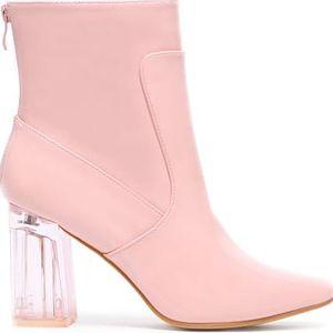 Dámské růžové kotníkové boty Ellema 6048