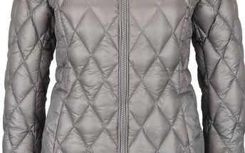 Zelenošedý dámský prošívaný kabát Geox Down