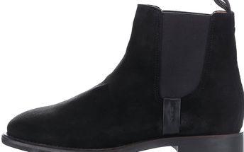 Černé dámské semišové chelsea boty GANT Jennifer