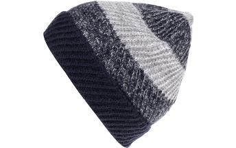 Šedo-modrá pánská pruhovaná čepice s.Oliver
