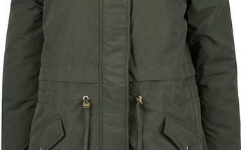 Khaki parka s umělým kožíškem Vero Moda Sabella