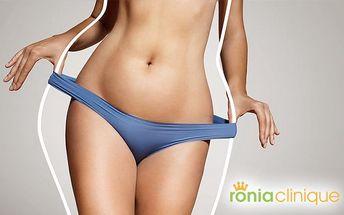 Neinvazivní liposukce přístrojem Blue Laser Energy Wave v Ronia Clinique v Praze
